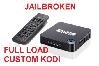 Harga Full Custom Load EM95X Amlogic S905X 2GB/16GB 4K Android 6.0 TV Box Quad Core 64bit KODI 17 PC WiFi DLNA Airplay Miracast Bluetooth