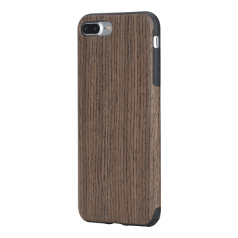 Harga ROCK Element Series Wood Slice + TPU Soft Case for iPhone 7 Plus 5.5 - Black Rosewood - intl