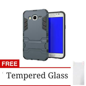 Silver Gratis Tempered Glass Harga Rugged Kick Stand Slim Armor Iron Man Back .
