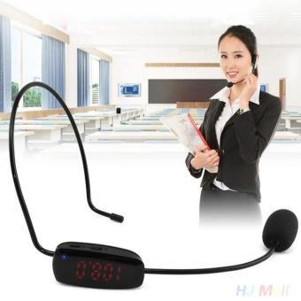 Harga FM Wireless Microphone Headset Megaphone MIC For Loudspeaker Teaching Tour Guide - intl