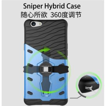 Detail Gambar Sniper Hybrid Armor Case (casing) with Full 360 degree Rotate Phone Stand