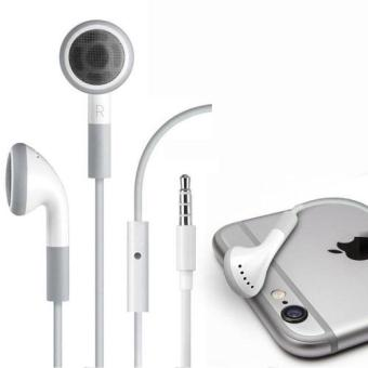 Harga Icantiq Handsfree For iPhone 2G / 3G/ 3S 4G/ 4S Headset / Earphone For All Phone Model Stereo - White/Putih