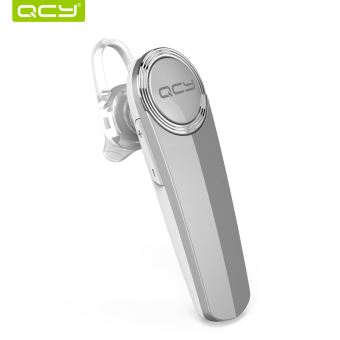 QCY Q8 Ear Hook 3D Stereo Call Bluetooth Wireless Mini Earphone with Mic for iPhone Android Phone – Silver (Chinese only)
