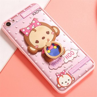 Harga OPPO A39/A57 Cute monkey TPU fashion phone case/Bow monkey - intl