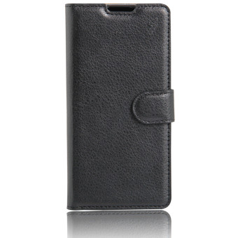 PopSky PU Leather Wallet Stand Flip Cover for Sony xperia XZ Black 5 .