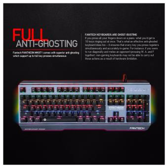 Harga Fantech Keyboard Gaming Mechanical MK881 - Blue Switch