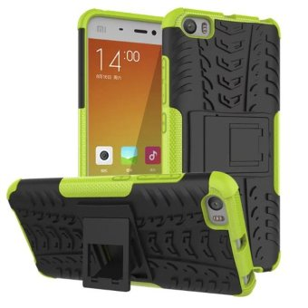 Meishengkai Case For Xiaomi Mi 5 Detachable 2 in 1 Hybrid Armor Design Shockproof Tough Rugged Dual-Layer Case Cover with Built-in Kickstand Green - intl ...