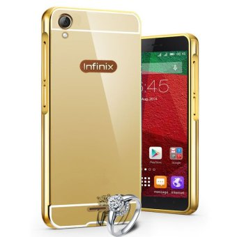 Harga Casing Aluminium Bumper Mirror for Infinix Hot Note X551 - Gold