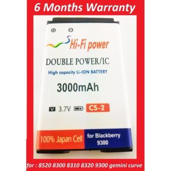 Harga Battery Batre Baterai Blackberry BB 9300 GEMINI 3G CURVE 8520 8300 8310 8320 8530 DOUBLE POWER CS-2 SC2 S-S2 904213 merk HIFI