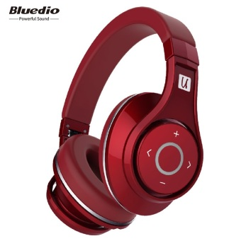 Harga Bluedio UFO Bluetooth Headphones Wireless headset with Microphone (Red)