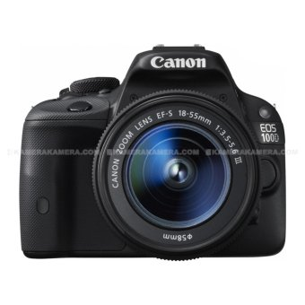 Harga Canon EOS 100D EF-S 18-55 III Kit TouchScreen LCD - 18MP (Black)