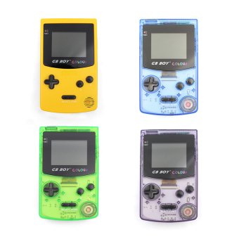Harga GB Boy Color Handheld Game Console Game Player with Backlut 66 Built-in Games (Clear Green)