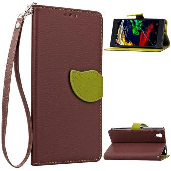 PU Leather Wallet Flip Stand Case Cover For Lenovo P70 (Brown) - intl .
