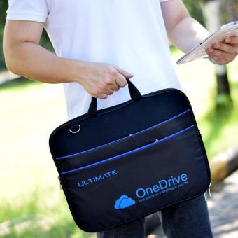 Detail Gambar Ultimate Laptop Bag Triple Logo Onedrive 14 Hitam Terbaru .