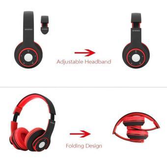 Leegoal Headphone Stereo Bluetooth nirkabel lipat EDR mikrofon Headphone MP3 FM Headset untuk .