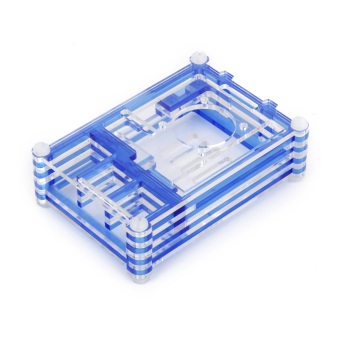 Harga Shell Box Support Enclosure Fan for Raspberry Pi (Blue)