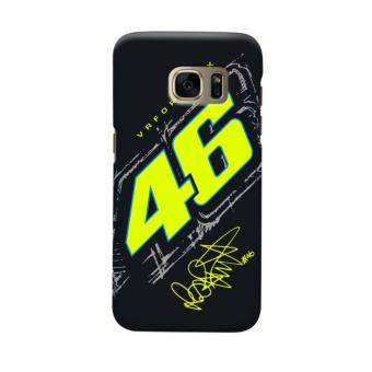 Indocustomcase Valentino Rossi VRFORTYSIX Casing Case Cover For Samsung Galaxy S6 Edge