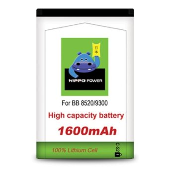 Harga Hippo Baterai Double Power CS2 Blackberry Gemini 8520/9300 - 1600mAh Batre BB