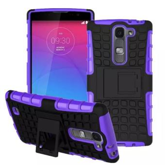 Harga VROOM A10115 Dual Layer 2 in 1 Rugged Rubber Hybrid Protective Armor Phone Cover Case with Kickstand Compatible for LG Magna