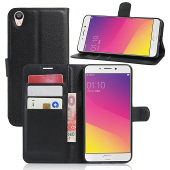 PU Leather Flip Stand Case Cover For OPPO R9 / OPPO F1 Plus (Black) ...