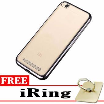 Softcase Silicon Jelly Case List Shining Chrome for Xiaomi Redmi 4A Black Free .