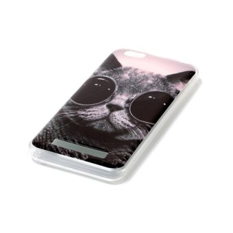 Moonmini Case for Lenovo Vibe C A2020 Lightweight Soft Silicon Back Case - Cat - intl
