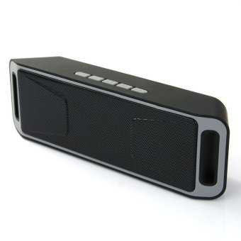 Harga Bluetooth 4.0 Portable Wireless Speaker Stereo Subwoofer Speakers TF USB FM Radio Built-in Mic Dual Bass Sound Box - intl