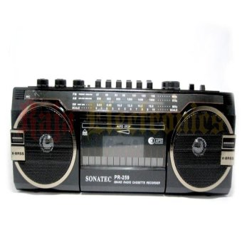 Harga Focus Radio Cassette Recorder Tape Sonatec PR -259 USB-SD Card AM-FM Radio
