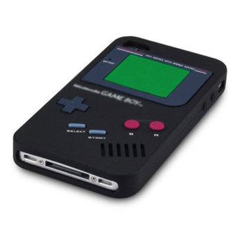 Leegoal hitam Gameboy silikon penutup Case untuk iPhone 4 4S - International -