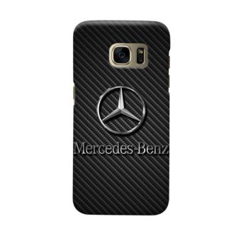 INDOCUSTOMCASE MERCEDES BENZ ON CARBON CASING CASE COVER FOR SAMSUNG GALAXY S7 EDGE