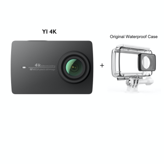 Harga Xiaomi YI International 4K Action Camera II (Black) + Original Waterproof Case