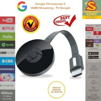 Harga Original Google Chromecast 2 HDMI Streaming - TV Dongle