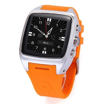 Harga iMacwear SPARTA M7 1.54 Inch Touch Screen 3G Smart Watch Phone IP67 Waterproof Rating Android 4.4 Dual Core CPU - Orange