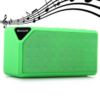 X3 Portable Mini Bluetooth Speaker X3 TF USB FM Radio Wireless Music Sound Box Subwoofer Loudspeakers with Mic for iOS Android - intl ...