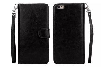 Luxury Flip PU Leather Phone Case Cover With 9 Card Slots Wallet Stand For Sony Xperia Z5(Black) - intl ...