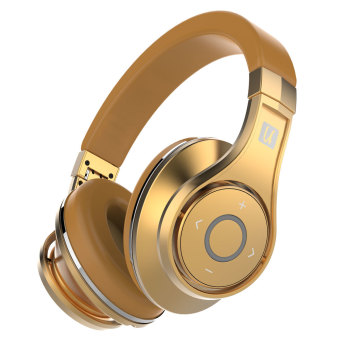 Harga Bluedio UFO Bluetooth Headphones Wireless headset with Microphone (Gold)