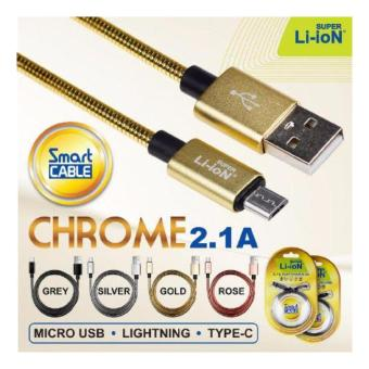 Harga Super Li-ion Smart Cable Chrome Fast Charging - Lightning