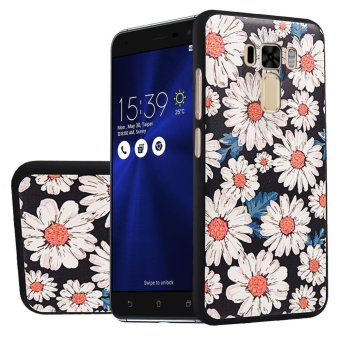 "Soft TPU Case For Asus Zenfone 3 Laser ZC551KL 5.5"" SunFlower 3D Embossed Painting Series"