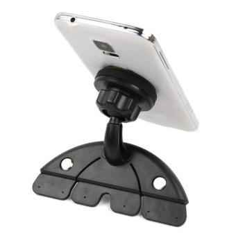 Universal Adjustable CD Player Slot Smartphone Mobile Phone Car Mount Holder 360 Rotating .