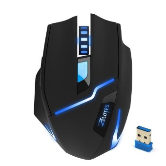 Harga 2.4G Wireless 2400DPI Adjustable Game Gaming Mouse for Laptop PC Gamer Black - intl
