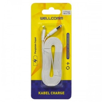Wanky Kabel Data Charger Flat Micro Fast Charger 1m Putih Daftar Source · Wellcomm Kabel Data