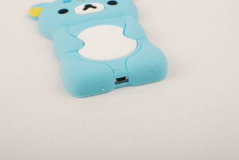 Leegoal Baby Blue 3D Rilakkuma Bear Soft Silicone Gel Case Cover for Samsung .