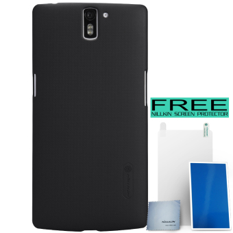 Nillkin OnePlus One Super Frosted Shield Hard Case - Hitam + Free Nillkin Screen Protector