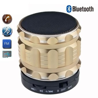 Harga Generic Portable Speaker Bluetooth S28 Gold