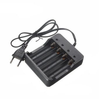 Harga 100V-240V Rechargeable Batteries 4-Slots 18650 AC Charger US/EU/UK/AU Plug - intl