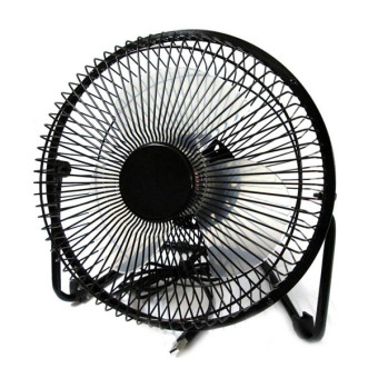 Harga Metal USB Fan Portable Kipas Angin Cooling Fan - Hitam