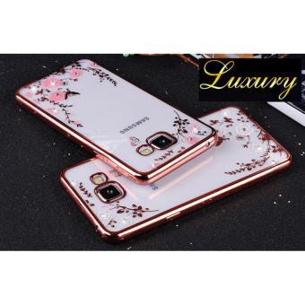 TPU silikon Gel lembut berwarna merah muda bunga Case belakang untuk Samsung Galaxy .