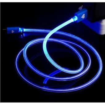 Harga LED LIGHT Round Micro USB Charger Data Sync Cable for Samsung Galaxy S3,S4,S5,S6