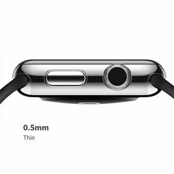 Wakaka Electroplating Hard PC Case for Apple Watch 42mm Series 2 Hitam 3 .