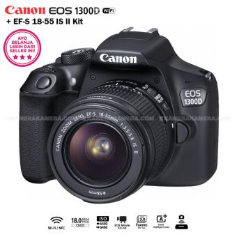 Harga Canon EOS 1300D 18MP (Wi-Fi/NFC) EF-S 18-55mm IS II